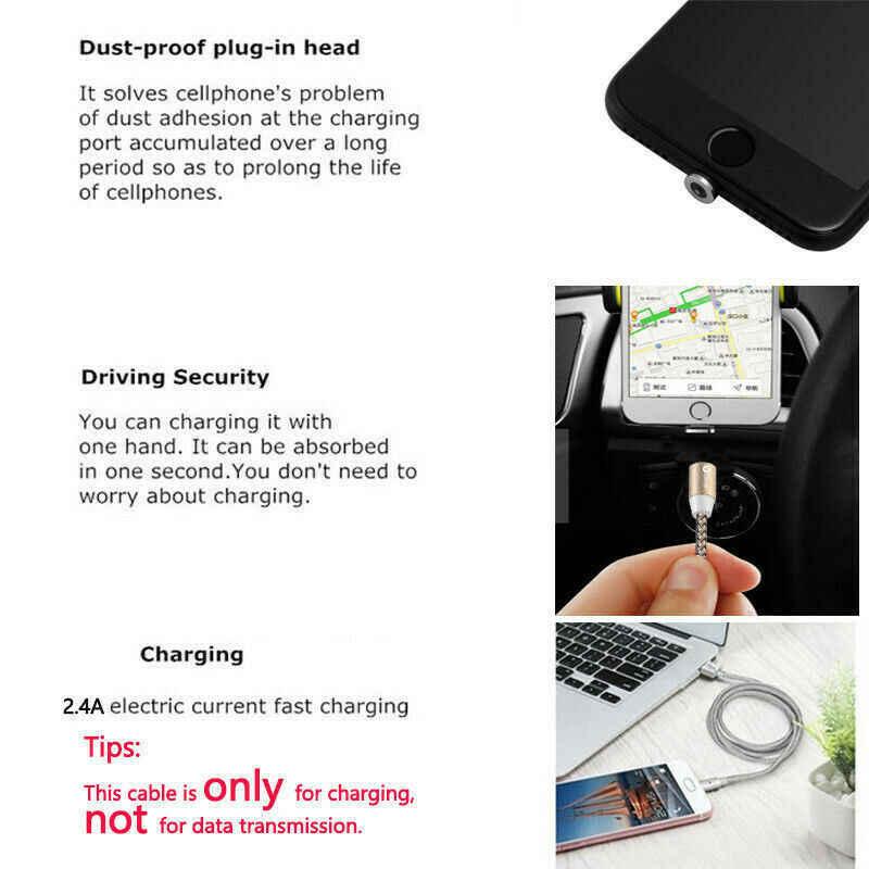 1 m/2 m/3 m Intrecciato Magnetica 2A Veloce Cavo di Carico del cavo Per il iPhone Sumsung Galaxy S4 s5 S6 S7 S8 + Lotto