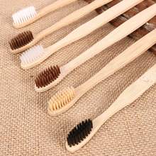 50pcs Mix Colors Bamboo Toothbrush Medium Bristles For Oral Care Teeth Cleaning Eco Medium Soft Bristle Brushes