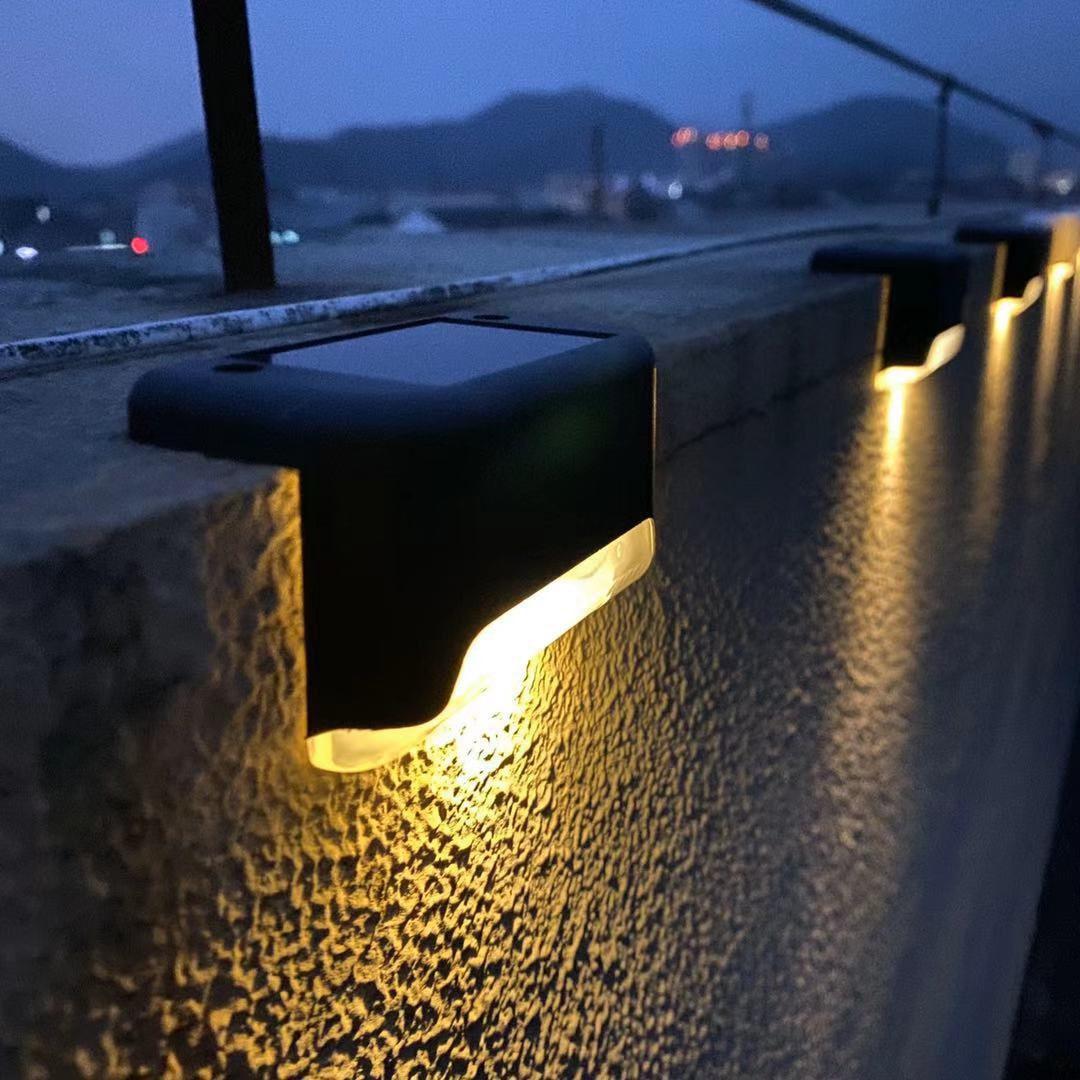 1/4/8/16 stücke LED Solar Lampe Pfad Treppen Im Freien Wasserdichte Wand Licht Garten Landschaft Schritt Deck Lichter balkon Zaun Solar Lichter