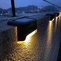 1/4/8/16 шт. светодиодный солнечный светильник путь лестницы на открытом воздухе Водонепроницаемый настенный светильник сада Ландшафтный шаг ...