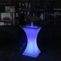 New Colorful changing led Luminous bar table nightclub lighted up furniture Commercial Furniture supplies