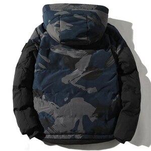 Image 2 - Parka Männer Winter Jacken Baumwolle Chaquetas Hombre Camo Mantel Mens Casual Verdicken Warm Camouflage Mode Streetwear Kleidung
