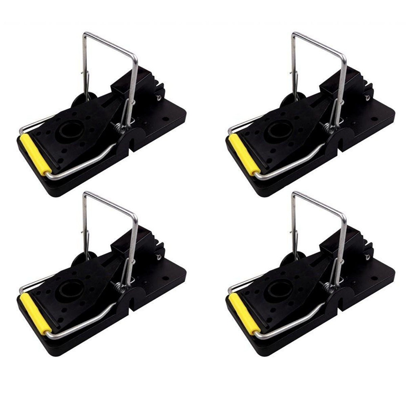 4 Pack Mouse / Mice Easy to Set Traps Reusable Trap Rodent Control|Traps| |  - title=