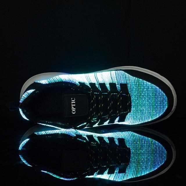 KRIATIV New Fiber Optic Luminous Sneakers for Boy&girls Led Shoes for Adult&kids Women Sneaker Children Trainers Light Up Gift 2