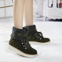 Женские ботинки со шнуровкой YMECHIC, зимние ботинки в стиле панк на платформе, с плюшевой подкладкой и пряжкой, готические ботильоны, 2019