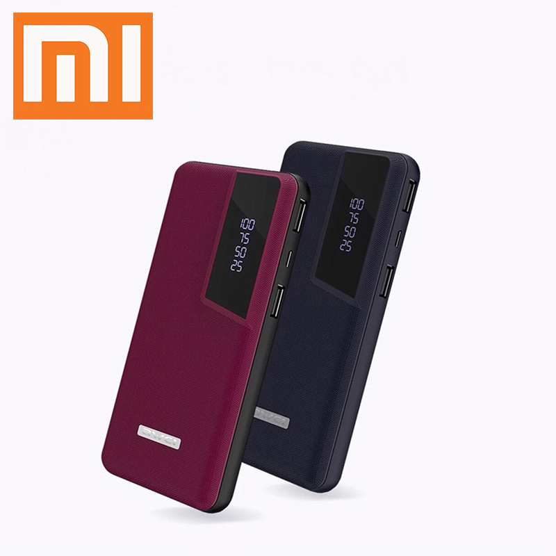 Xiaomi Power Bank Business Portable Charger 2 USB Mi QC3.0 Lightable Leatherwear External Battery Buy 2 Get 10% Off DropShipping image