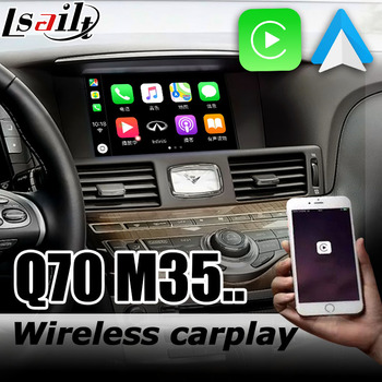Carplay interface box for Infiniti Q70 / M35 Y51 2009-2019 with G QX5 QX60 QX70 QX80 M25 Fuga Cima Android auto youtube play image