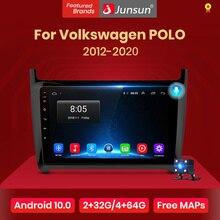 Junsun V1Android 10 2G+32G DSP Car Radio Multimedia Video Player For VW Volkswagen POLO sedan 2008-2020 Navigation 2 din no dvd