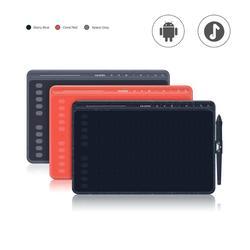 Графический планшет HUION HS611, 8192 уровней, цифровые планшеты для рисования, экспресс/мультимедийные клавиши, ручка без батареи с функцией накл...