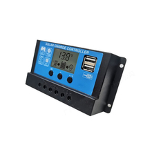 цена на Solar panel  charge Controller 10A 20A 30A with 12V 24V Auto PWM 5V Output Regulator PV Home Battery Charger LCD Dual USB