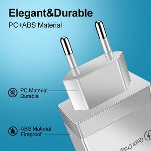 Image 4 - Cargador USB de carga rápida para móvil, cargador de pared rápido 3,0 para iPhone XR X 7 8 Huawei P20 Tablet QC 3,0, adaptador de enchufe europeo para Samsung A50 A30