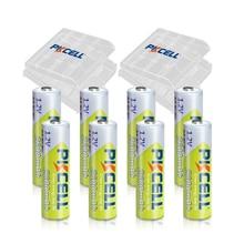 8 pièces PKCELL 2300 à 2600mah batterie NIMH AA batteries rechargeables aa 1.2v et 2 pièces