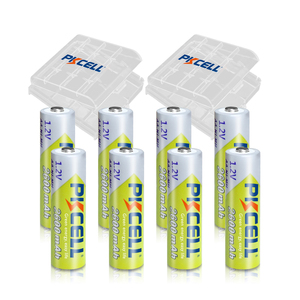 Image 1 - 8Pcs PKCELL  2300 to 2600mah Battery NIMH AA Rechargeable Batterys aa 1.2v and 2pcs Boxes Case
