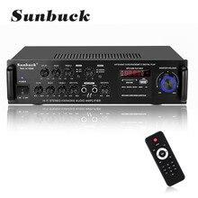 SUNBUCK TAV-6188E 2000W bluetooth5.0 Audio Amplifier Stereo Home Theater AMP Car Home 5CH AUX USB FM SD