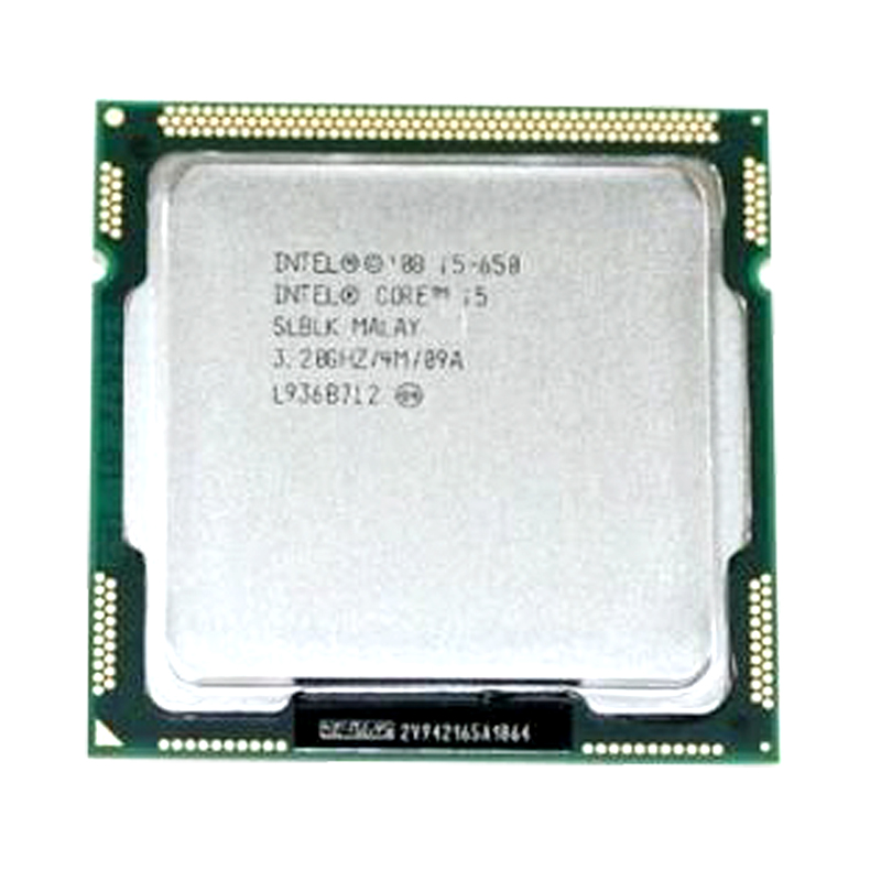 PC computer <font><b>Intel</b></font> Core <font><b>i5</b></font>-<font><b>650</b></font> <font><b>i5</b></font> <font><b>650</b></font> Processor (4M Cache, 3.20 GHz) CPU LGA 1156 100% working properly Desktop Processor image