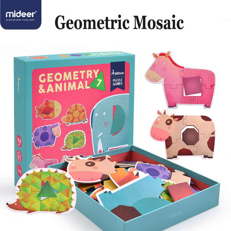 Mideer Puzzle Game Baby Jigsaw Puzzle Children Wooden Toys Educational Game Geometric Cognitive Interaction Toys 2 4y Gift Aliexpress