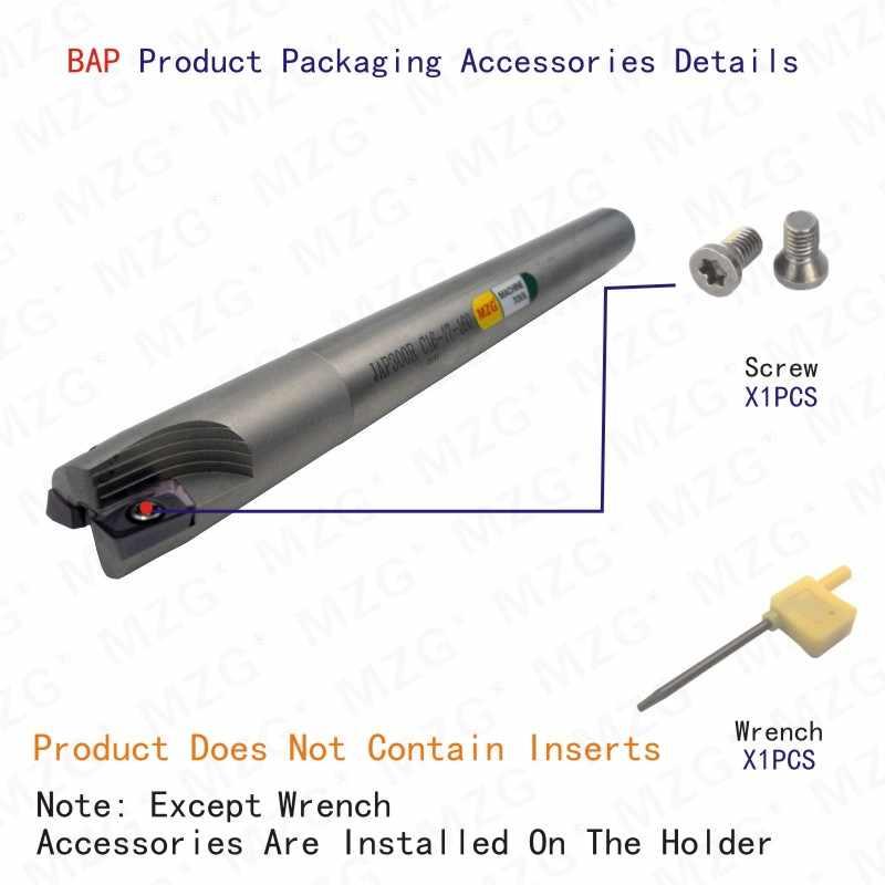 Inserto de carburo de BAP300RC10-10-100-1T MZG, fresado con abrazadera, corte de hombro, ángulo recto, fresa de precisión, vástago de fresa