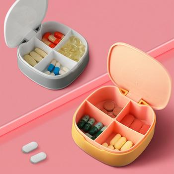 Podróżne pudełeczko na tabletki z uszczelnieniem cotygodniowe pudełko na leki niezależne kraty pojemnik na leki pojemnik na leki Pill Box tanie i dobre opinie CN (pochodzenie) Other Pill Box with 4 Compartments Z tworzywa sztucznego Z kratką Butelki i słoiki przechowywania travel pill box medicine box storage