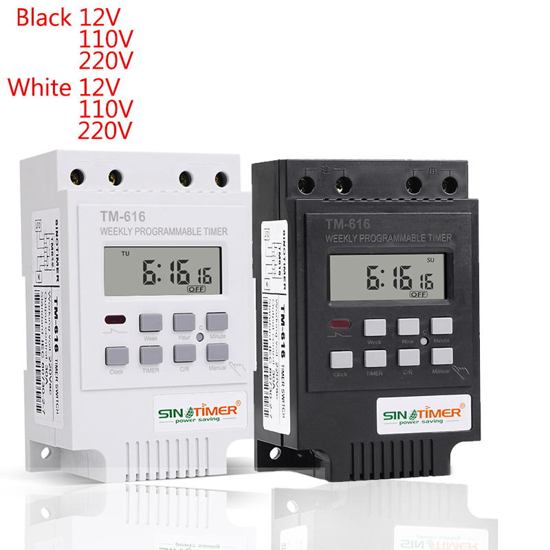 Digital Time Switch 12v 110v 220v 2 Channels Separate Control Output 7 Days Programmable Time Clock Switch New 2019