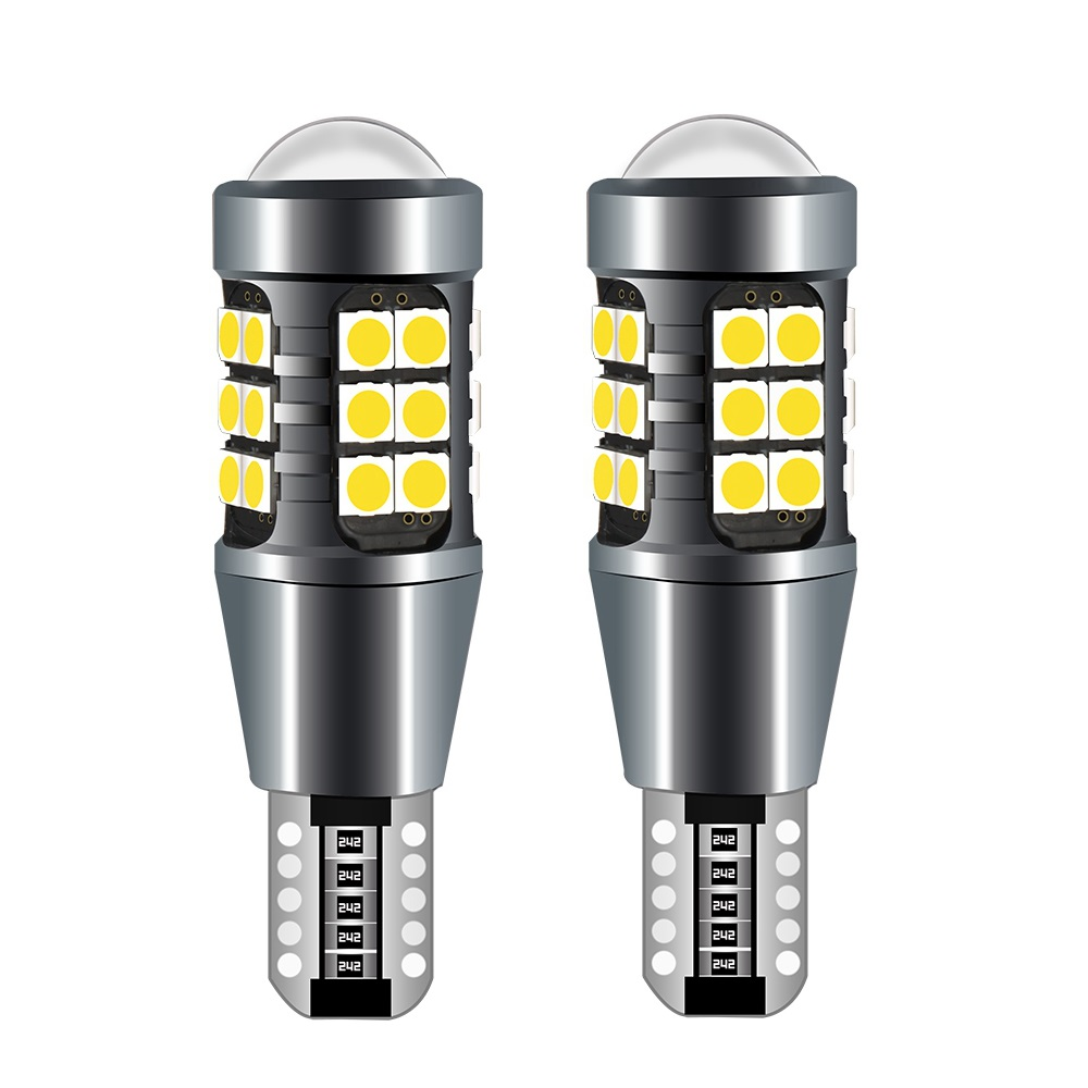 Сверхъяркие светодиодные лампы T15 W16W WY16W 1600 лм, Лампы Canbus без ошибок для резерсветильник копирования автомобиля, задний стоп-сигнал, красный ...