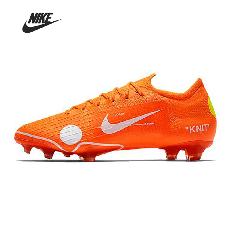 Nike Mercurial Vapor <font><b>360</b></font> x Virgil Abloh Men Football Boots Original Soccer <font><b>Shoe</b></font> Women Man Football <font><b>Shoes</b></font> Training AO1256-810 image