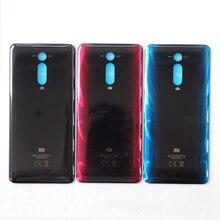 100% 오리지널 새 배터리 커버 Xiaomi Mi 9T Mi9T 백 유리 패널 배터리 커버 리어 도어 케이스 하우징 카본 블랙 화이트