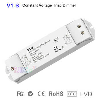 led triac dimmer V1-S single color CV 1CH*15A 12V-48V DC Logarithmic dimming curve dimmer for single color led strip light - DISCOUNT ITEM  27% OFF All Category