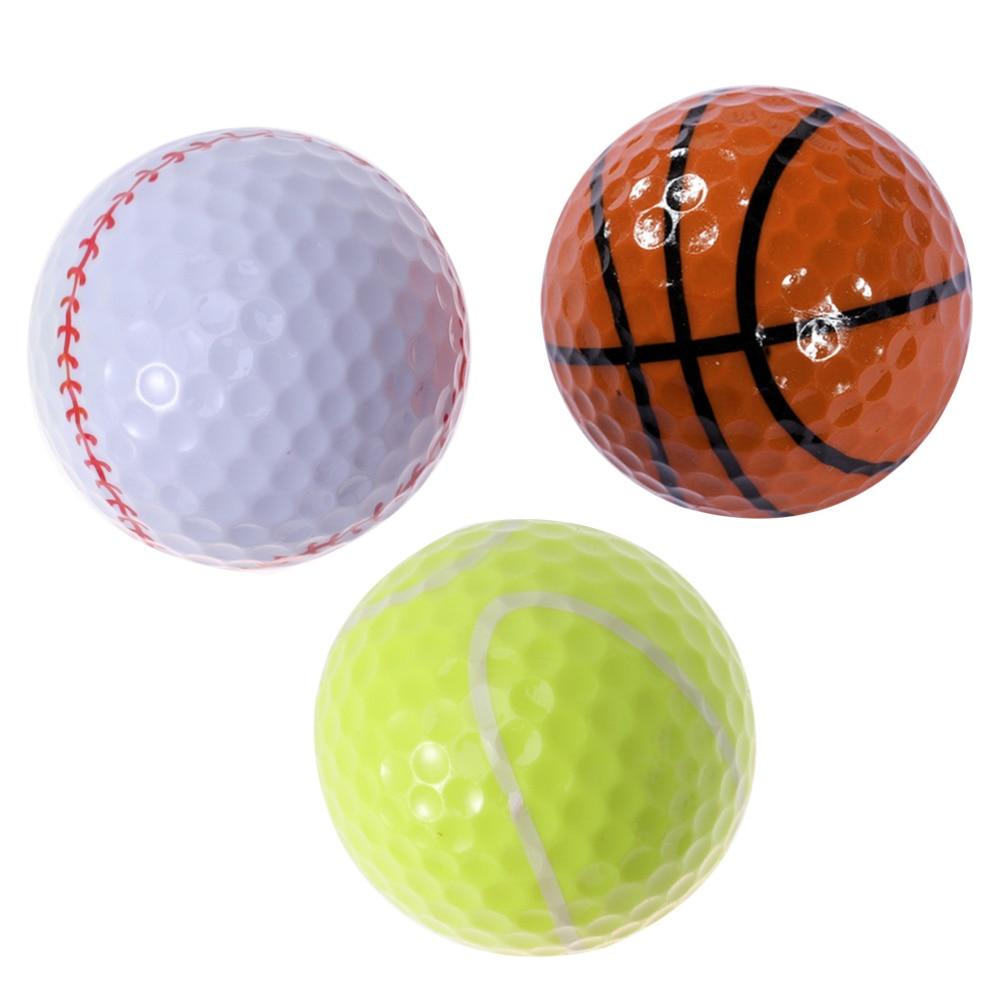 3PCS Sports Theme Training Sports Balls Simulation Rubber Practice (Tennis Basketball Baseball)
