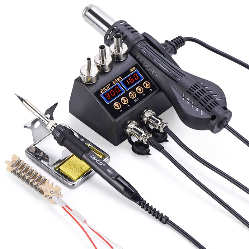 JCD 750W Solder Rework Station LCD BGA SMD Hot Air Gun Attemperation for Repairing Phone Soldering Iron Station Welding Tool Kit