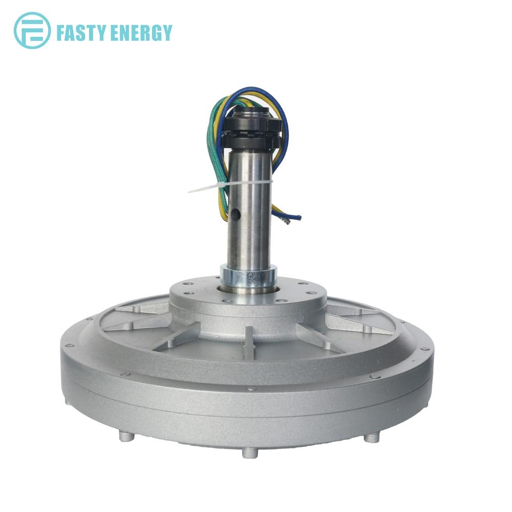 1.5kw 100 150RPM 48 96 220 380VDC Vertical Wind Turbine Permanent Magnet Alternator Coreless Maglev DIY Generator