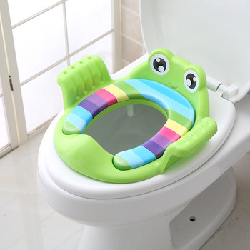 Potty Training Seat for Baby Kids Toddlers Toilet Potty Training Seat with Detachable Soft Cushion for boys and girls 4