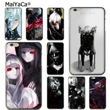 MaiYaCa Black and White Anime Tokyo Ghouls for iPhone X XR XS MAX 11 Por for Samsung Black Soft Shell Phone Case Rubber Silicone(China)