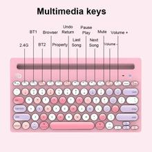 Multi-color 2.4G Bluetooth Dual Mode Wireless Keyboard For PC Laptop Tablet Computer Gamer Accessories Business Girl Gift