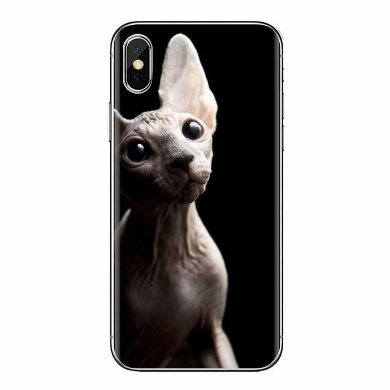 Sphynx kot kitty miękkie przezroczyste okładki dla Xiao mi czerwony mi 4 3 3S Pro mi 3 mi 4 mi 4i mi 4C mi 5 mi 5S mi Max uwaga 2 3 4