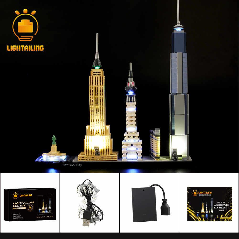 Lightailing Led Light Up Kit For 21028 Architecture New York City Building Block Lighting Set Blocks Aliexpress