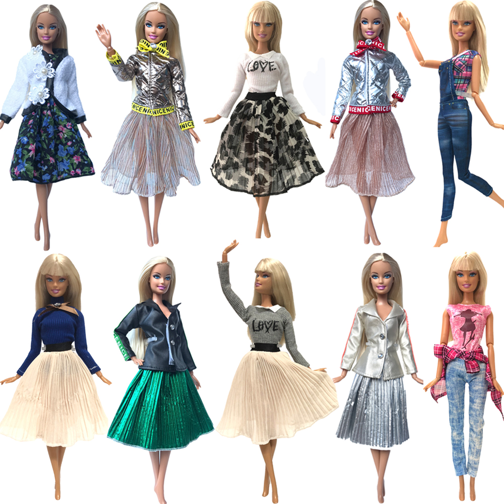 NK Hot Sale 1x Doll Dress For Barbie Doll Fashion Skirt Dollhouse Clothes DIY Accessories Girls' Gift Baby Toys G1 JJ