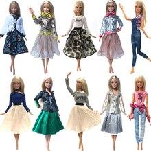 NK gorąca sprzedaż 1x lalka sukienka dla lalki Barbie modna spódnica domek dla lalek akcesoria typu DIY do ubrań dla dziewczynek prezent dla dzieci zabawki G1 JJ