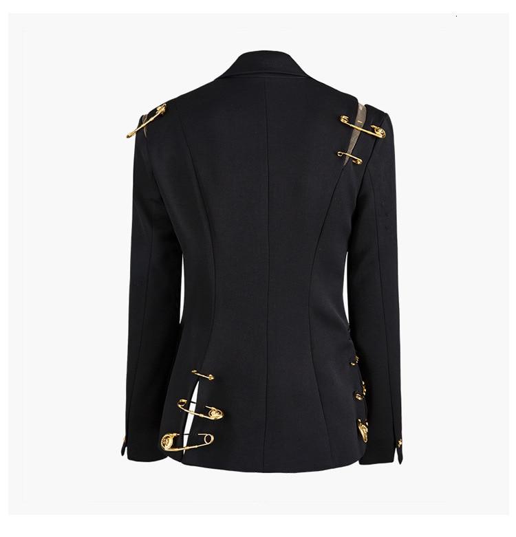 H5e111743322e4f70b701550bdbcd0897r [EAM] Loose Fit Black Hollow Out Pin Spliced Jacket New Lapel Long Sleeve Women Coat Fashion Tide Autumn Winter 2019 JZ500