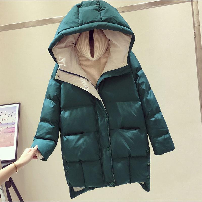 2020 Winter Women Jacket Long Hooded Cotton Padded Female Coat High Quality Warm Outwear Womens Parka Manteau Femme Hiver P787|Parkas| - AliExpress