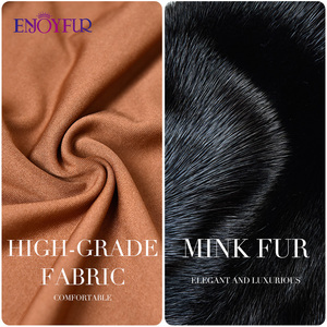 Image 5 - ENJOYFUR 100% Genuine Mink Fur Hats for women Winter Scarf Hat Fashion Elegant Warm Lady Caps New Fur Beanies