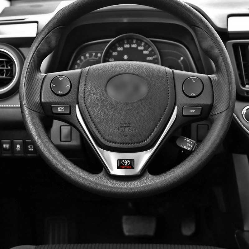 1 pièces 3D époxy autocollant voiture volant voiture intérieur autocollant pour toyota corolla chr auris rav4 yaris avensis voiture accessoires