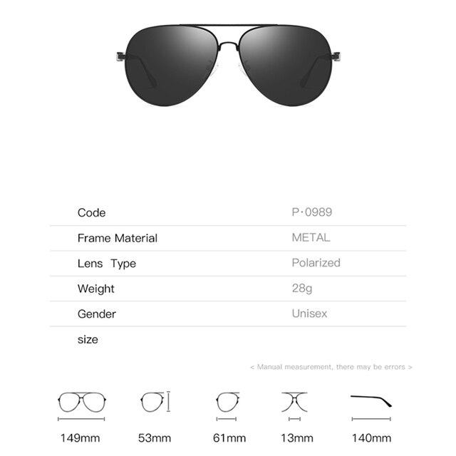 2020 Classic Retro Oversized Polarized Sunglasses for Men Women Driving Aviator Alloy Frame Sun Glasses UV400 Protection 3