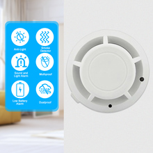 Fire Alarm Sensor Independent Sensitive Smoke Detector Smoke Fire Detector Tester Home Security System for Kitchen Hotel Cafe