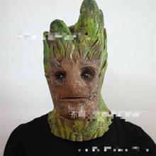 Halloween Horror Tree Monster Mask Galaxy Guard Grut Headdress Dance Thriller Whole Maggot Unisex Toy Latex цена