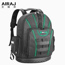 Plecak na narzędzia AIRAJ, wodoodporna torba na narzędzia, gumowy spód do przechowywania, plecak z wieloma kieszeniami odpowiedni do torby elektryka