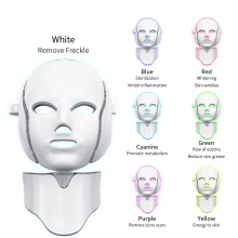 Photon Therapy Skin Care Beauty Mask 7 Colors Led Photon Electric LED Facial Mask with Neck Skin Rejuvenation Anti Wrinkle PDT pdt photon led facial mask skin rejuvenation wrinkle removal electric device anti aging mask therapy beauty machine