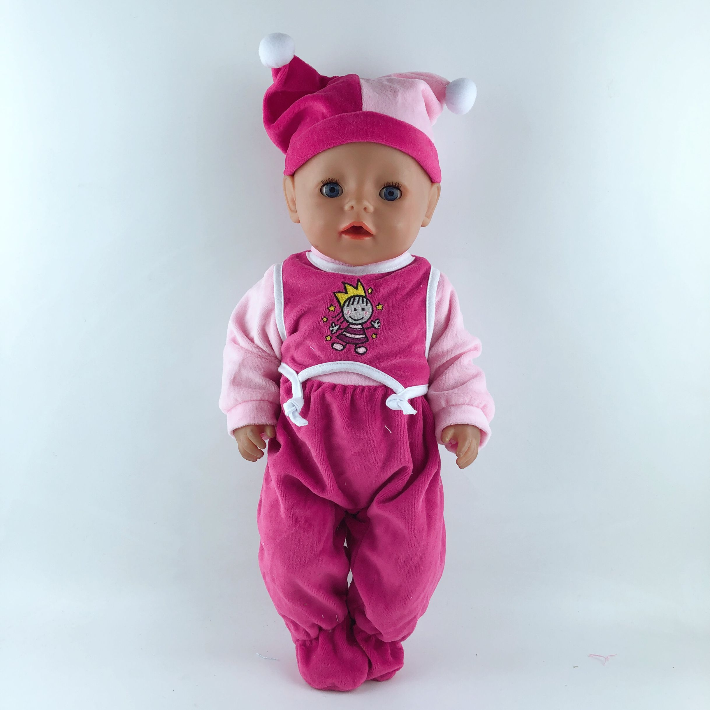 2pcs In 1, New Hat+Suit Fit For 17 Inch Baby Doll 43cm Dolls Clothes