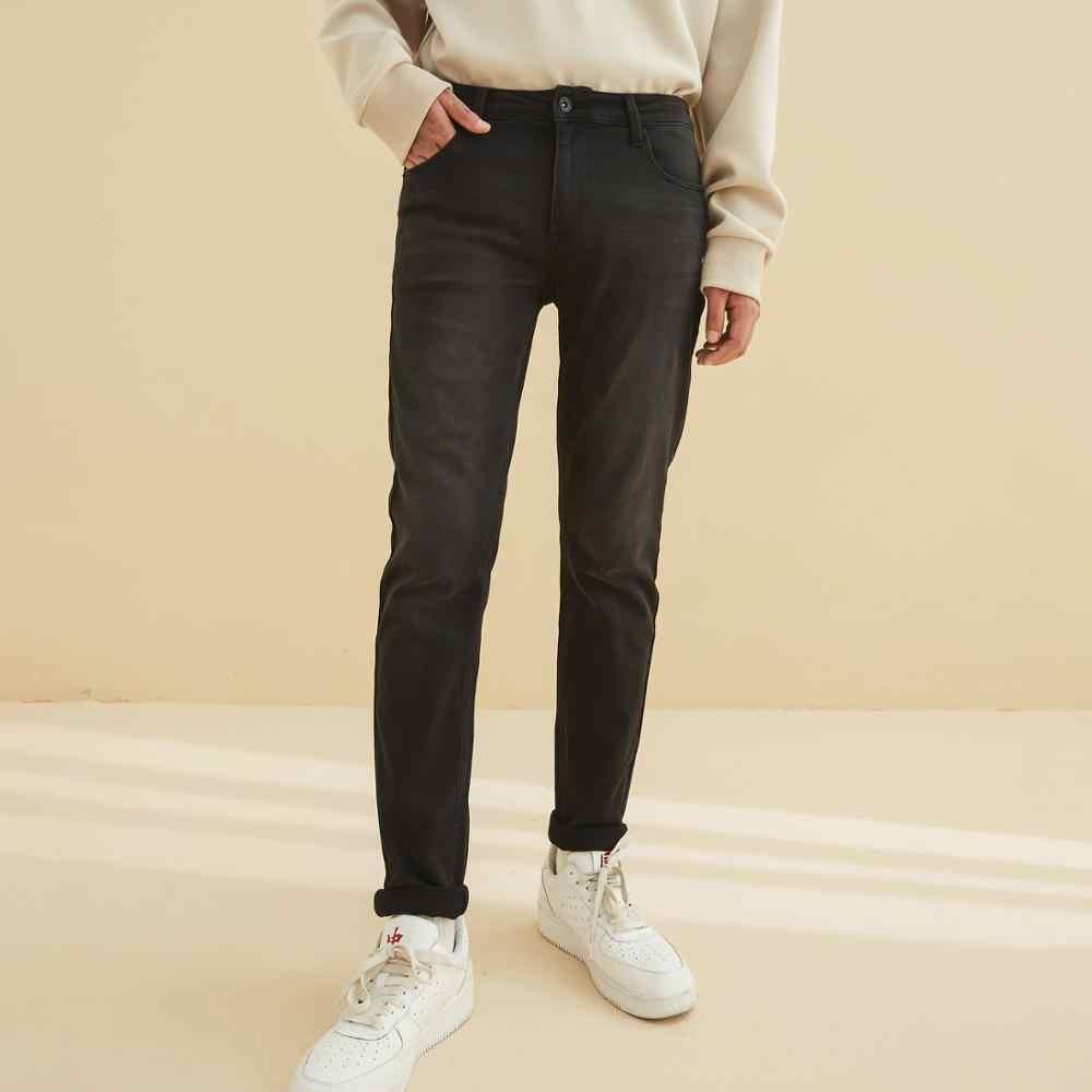Metersbonwe 2020 Primavera Nuovi Jeans Degli Uomini Scarni Streetwear Pantaloni Blu Pantaloni Sottili Gioventù New Casual di Tendenza Dei Jeans Sottili Degli Uomini