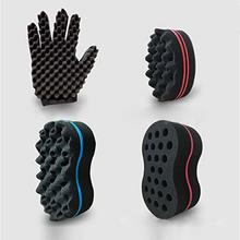 1Pc Hand Oval Double Sides Magic twist hair brush Sponge Brush for Natural Afro