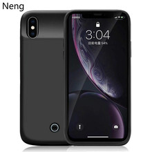 Neng 5000mAh Portable Fast Charger Battery Case For iPhoneX Xs Battery Case Ultra Thin Back Clip Battery Case For iPhoneXr XsMax